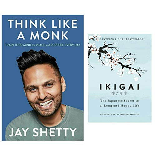Think Like A Monk & Ikigai combo book set